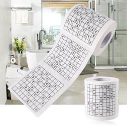 1 Roll 2 Ply Novelty Funny Number Sudoku Printed WC Bath Fun