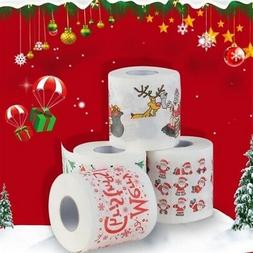 1 Roll Christmas Style Toilet Paper Towels Santa Claus Print