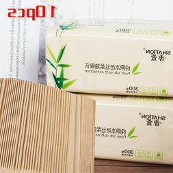 10* Pop-up Facial Tissue Unbleached Paper Napkins Bamboo Pul