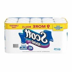 Scott 1000 Bath Tissue 45 rolls = 1,000 Sheets Toilet Paper