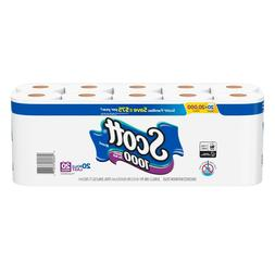 Scott 1000 Sheets Per Roll Toilet Paper Bath Tissue - 20 Rol