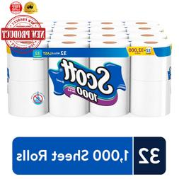 Scott 1000 Sheets Per Roll Toilet Paper Bath Tissue, 32 Roll