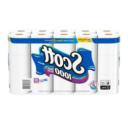 Scott 1000 Toilet Paper, 30 Rolls, 30,000 Sheets