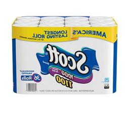 Scott 1100 Unscented Bath Tissue Bonus Pack, 1-ply (36 Rolls