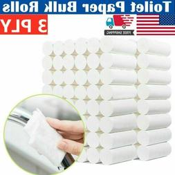 12 Rolls 3-Ply Unbleached Toilet Paper Tissue Safe Soft Kitc