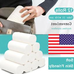 12 Rolls 5-Ply Unbleached Toilet Paper Tissue Safe Soft Kitc