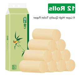 12 Rolls/Pack Bamboo Toilet Paper Tissue Household 3 Layer P