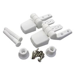 Top Tightening LASCO 14-1039 White Plastic Toilet Seat Hinge with Bolts and Nuts Fits Bemis Brand by LASCO