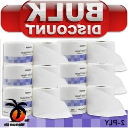 15 Rolls - Toilet Paper, White 2-Ply Tissue, 500 Sheets, Sta