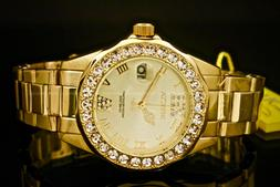 Invicta Women's 15252 Pro Diver Gold Dial Gold-Plated Stainl