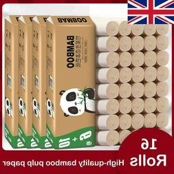 16 Rolls 4Ply BAMBOO Toilet Paper Towel Facial Tissue Toilet