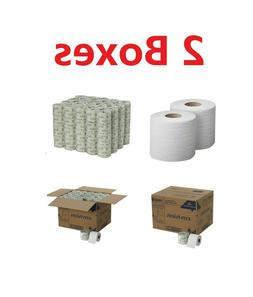 160 Rolls Envision 2Ply Standard Toilet Paper White 550 Shee