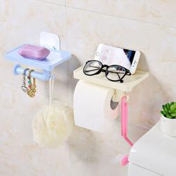 1Pcs Toilet Roll Paper Holder With Phone Storage Shelf Holde
