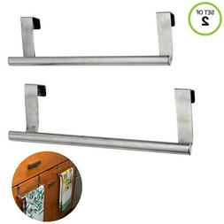 "Evelots® 2 Over Cabinet 9.5"" Towel Bars,Brushed Stainless S"