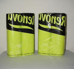 2 Packages Lot Renova Color Toilet Paper Lime Green 3-Ply Ba