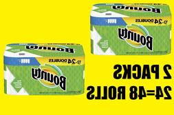 2 PACKS of Bounty Select-A-Size Paper Towels, Double Rolls,