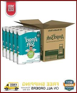 Angel Soft 2 Ply Toilet Paper 60 Double Bath Tissue Pack Of