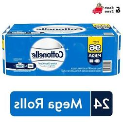 24 Mega Rolls Cottonelle Ultra Strong and Biodegradable Toil