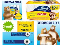 24 pack toilet paper 1 ply durable