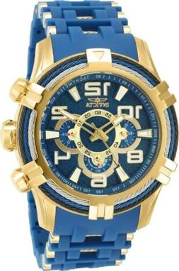Invicta 25768 Bolt Men's 51mm Stainless Steel Gold-Tone Blue