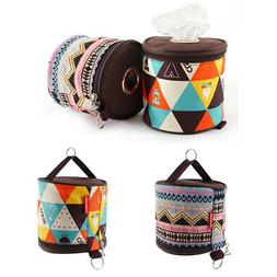 2 Piece Multicolored Portable Toilet Paper Tissue Hanging Ho