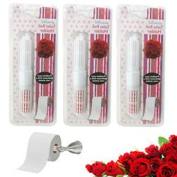 3 Rose Scented Toilet Paper Rollers Holder Replacement Bathr