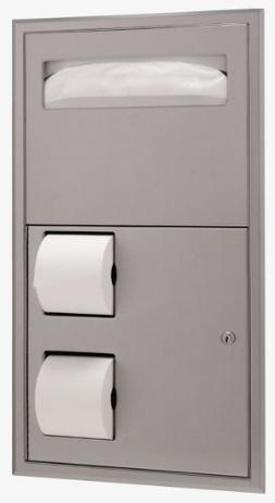 Bobrick 3474 ClassicSeries 304 Stainless Steel Recessed Dual