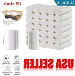 36 Rolls 4 Ply Kitchen Toilet Paper Bulk Rolls Bath Tissue B