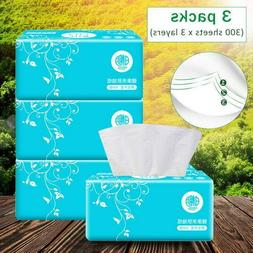 3Packs Toilet Paper Tissue Bathroom Paper Towels Soft 3Ply H