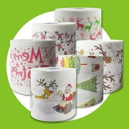 4 Colors Christmas Printing Paper Toilet