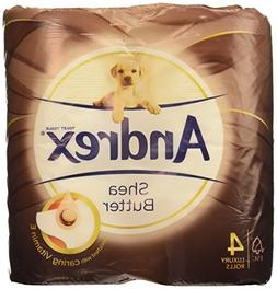 Andrex 4 Roll Shea Butter Toilet Tissue 160 Sheets