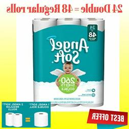 48 Double Rolls Angel Soft Toilet Paper 2 Ply Ultra Comfort