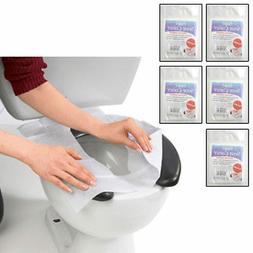 50 Hygienic Toilet Paper Seat Covers Disposable Protector Tr