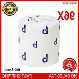 96 Roll Case 500 Sheet Toilet Tissue Two-Ply Pack Bathroom S