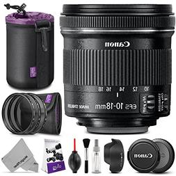 Canon EF-S 10-18mm f/4.5-5.6 IS STM Wide Angle Lens w/ Essen