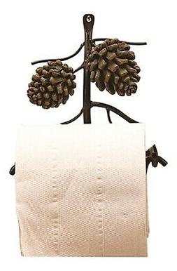 DEI Country Pinecone Toilet Paper Holder Wall Mount, 6-Inch