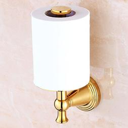 Rozin Gold Color Upright Style Toilet Paper Holder Wall Moun