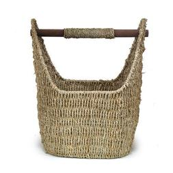 The Lucky Clover Trading Seagrass Decorative Basket with Woo