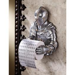Toilet Paper Holder - Medieval Knight to Remember Gothic Bat