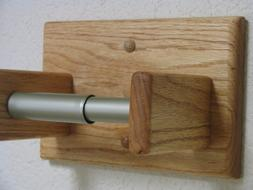 AB TOILET PAPER HOLDER. SOLID WOOD. OAK. NATURAL COLOR. SCAN
