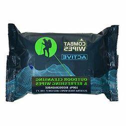 Combat Wipes Active Outdoor Wet Wipes | Extra Thick, Ultrali