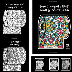 Adult coloring book Toilet paper Mandala Black page Relax St