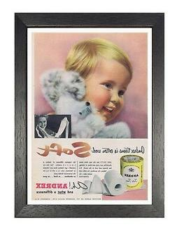 Andrex - Soft Toilet Paper Old Advert Poster Happy Kid Masco