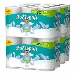Angel Soft Toilet Paper 48 Double Rolls 214 2-Ply White Bath