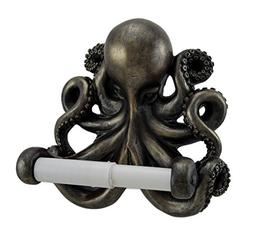 Antique Bronze Finish Wall Mounted Octopus Toilet Paper Hold
