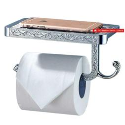 Thinktop Antique Carving Toilet Roll Paper Holder With Phone