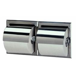 Bobrick B-699 Recessed Toilet Tissue Dispenser Hood Double R
