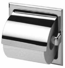 Bobrick B6697 Chrome Recessed Toilet Paper Dispenser with Ho