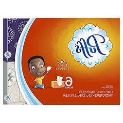 Puffs, Everyday Non-Lotion Facial Tissues, 24 Family Boxes,