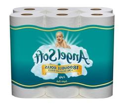 Angel Soft Bath Tissue Double Roll, White, 18 Count